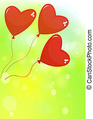 balloons in the shape of a heart on a white background