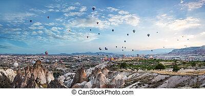 Balloons in the sky over Cappadocia