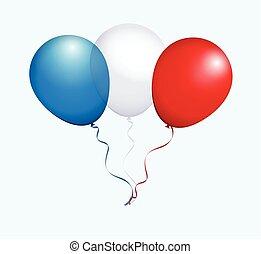 Balloons in Vector as Flag