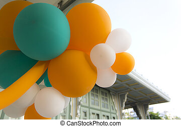 balloons in vintage color style