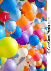 balloons., kleurrijke, lucht