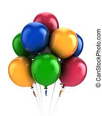 balloons-, multi gefärbt, 3d