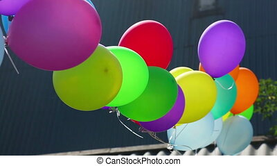 Balloons - Multicolor balloons, birthday party