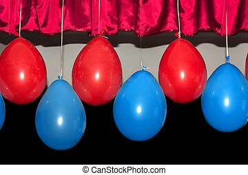 Balloons on a dark background