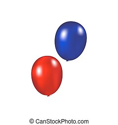 Balloons on a white background
