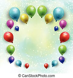 balloons on starry watercolour background 1707