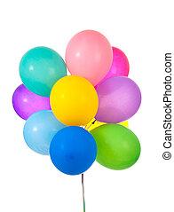 Balloons on white