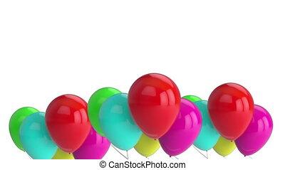 Balloons on white background