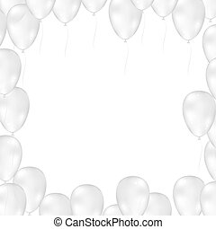 Balloons on white background. Vector illustration