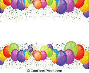Balloons party background