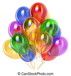 Balloons party birthday decoration multicolored translucent