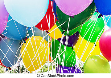 Balloons party, leisure activity - Balloons party. Funny...