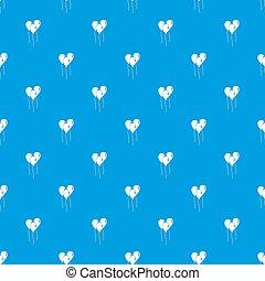 Balloons pattern seamless blue
