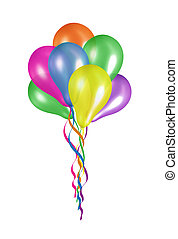 balloons  - colorful balloons isolated on white background