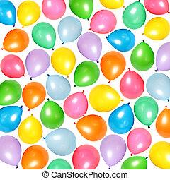 Balloons - Many colorful balloons as abstract holiday...