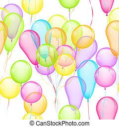 Balloons Seamless Pattern