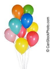 Balloons - Stock image of colorful balloons floating. ...
