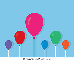 Balloons String Colors