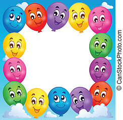 Balloons theme frame 1 - eps10 vector illustration.