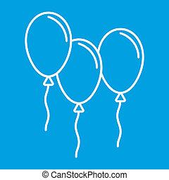 Balloons thin line icon