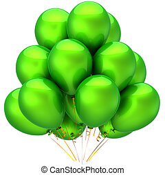 Balloons total green