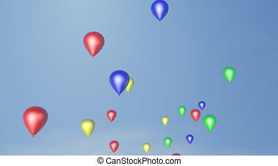 Balloons - Colotfull balloons fly into the sky