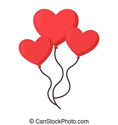balloons with a shape of heart