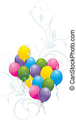 Balloons with decorative sprigs