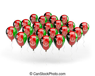 Balloons with flag of afghanistan