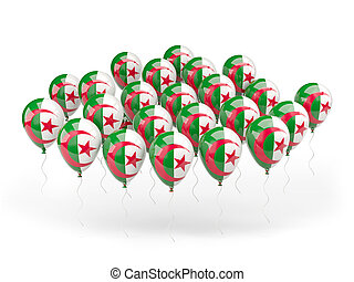 Balloons with flag of algeria