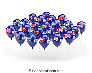 Balloons with flag of anguilla