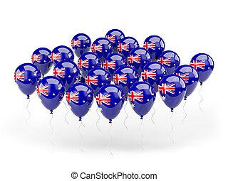 Balloons with flag of australia
