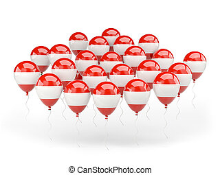 Balloons with flag of austria