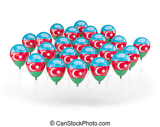 Balloons with flag of azerbaijan
