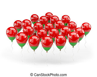 Balloons with flag of belarus