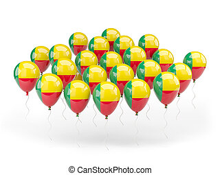 Balloons with flag of benin