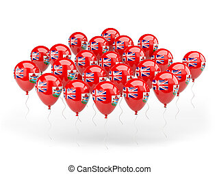 Balloons with flag of bermuda
