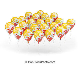 Balloons with flag of bhutan