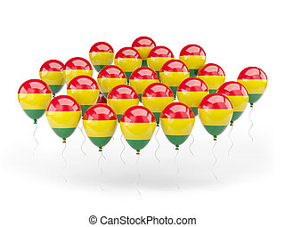 Balloons with flag of bolivia