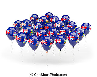 Balloons with flag of cayman islands