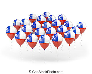 Balloons with flag of chile