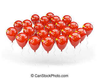 Balloons with flag of china