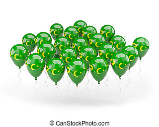 Balloons with flag of cocos islands