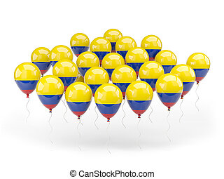 Balloons with flag of colombia