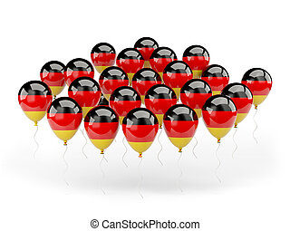 Balloons with flag of germany