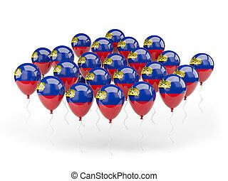 Balloons with flag of liechtenstein
