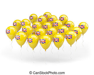 Balloons with flag of niue
