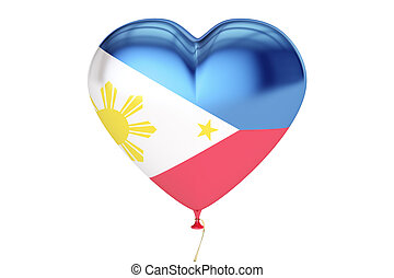 Balloons with flag of Philippines, holiday concept. 3D rendering