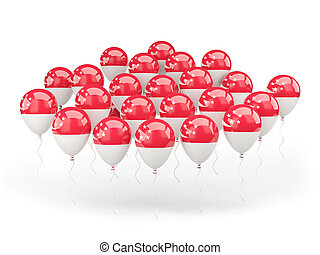 Balloons with flag of singapore