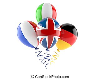 Balloons with flags